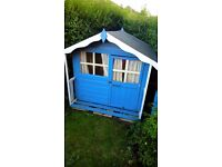 Wooden Playhouse/Wendy House - 5ft x 5ft - Four years old, good condition