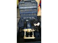 Power pro router, 1/2 & 1/4, set of cutters.