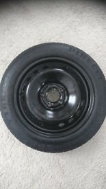 Spare wheel, Space saver rim and tyre, 16in never used pirelli tyre.