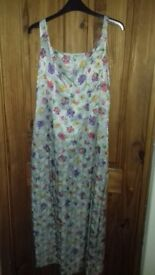 Monsoon floral, fitted, sleeveless, lined dress, size 12