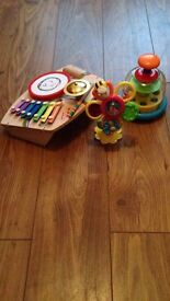 Fun Toys for ages 1-2 year old.. Very good condition..looks new..