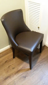 Faux leather occasional chair