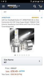 LED Car Headlights bulbs H7 all in one