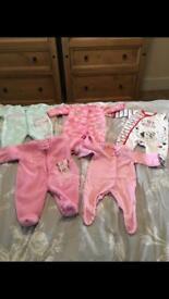 5 Disney first size babygrow bundle