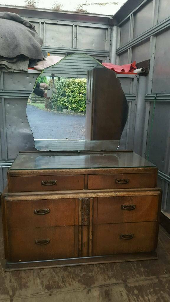 Stunning Antique Dressing Table and Wardrobe