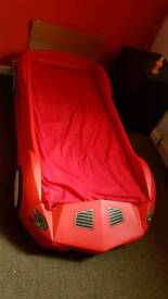 Storm racing car bed with mattresse