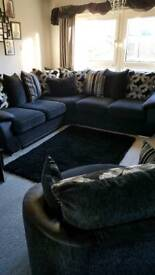 Large corner sofa and twister chair
