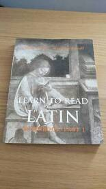 Learn to Read Latin Workbook Part 1 - Mint Condition