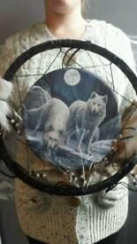 Fantasy wolf dreamcatcher