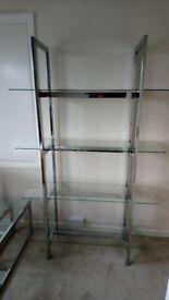 Glass shelves from Next.
