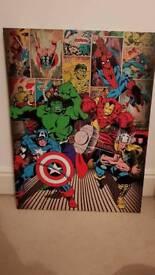 Super hero wall mountable canvas