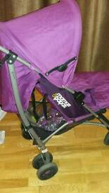 Mamas and papas stroller pushchair purple vgc