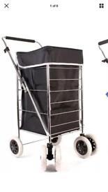 Six wheel shopping trolley
