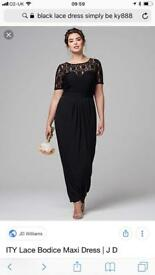 Size 20 lace body black maxi dress