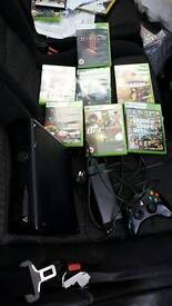 ASAP SALE OF Xbox 360, 250gb, 7 games on cd's. ASAP SALE, can drop it.