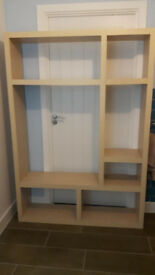 Light coloured Shelving Unit