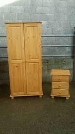 wardrobe with bedside locker