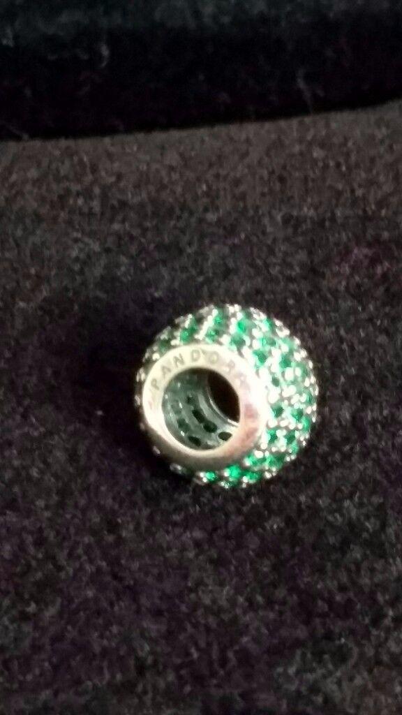 PANDORA Green Pavé Ball Charm - RRP £55