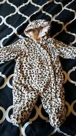 Girls snow suits 3 to 6 months