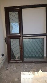 ROSEWOOD BROWN UPVC DOUBLE GLAZED WINDOWS WITH GLASS PANES