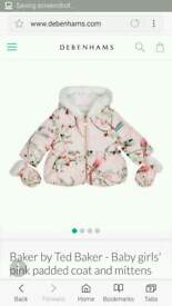 Ted baker 6-9 months baby girls jacket