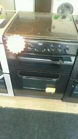 BUSH 60CM ELECTRIC DOUBLE OVEN COOKER IN BLACK