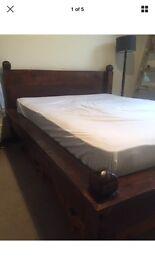 Lombok wooden bed frame KING SIZE