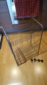 Metal 3 tier trolley