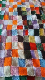 Large handmade patchwork knitted blanket (two types) £15 each
