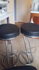 Price drop!! black and chrome kitchen stools