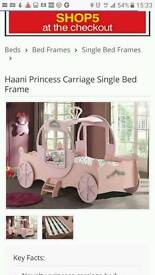 princess carriage bed,