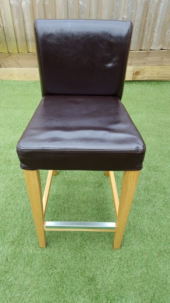 Brilliant Bar Stool With Backrest Ikea Henriksdal Wood Oak Leather Dark Brown Foot Rest Set Of 4 In Bath Somerset Gumtree Gmtry Best Dining Table And Chair Ideas Images Gmtryco