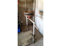 Vertical leg press machine, solid.