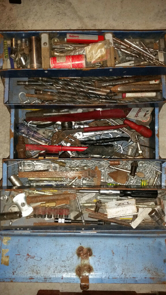 Job lot of hand tools, wrenches, spanners, drill bits and a lot more