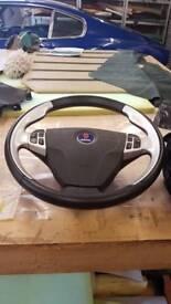 Saab steering wheel aero with air bag