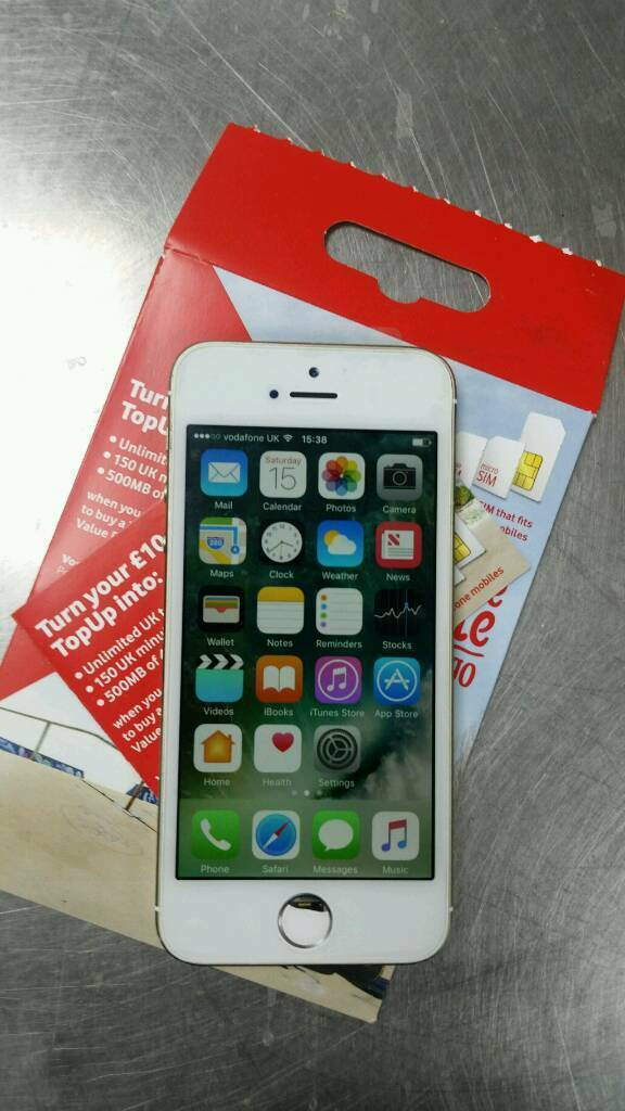Iphone 5s refurbished Vodafonein Southampton, HampshireGumtree - Iphone 5s for sale refurbished new screen fitted 16GB locked to Vodafone fully working with finger print scanner home button can be replaced free of charge however will be no longer be able to use finger print scanner due to apples design. £130 ono