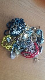 Vintage Jewellery Job Lot Brooches Silver Rings - 1950s Broach - 2.5-3KG
