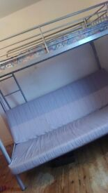 Double sofa bed with top single bed