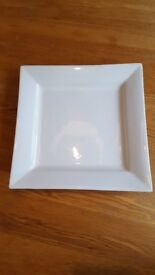 10 white plates for sale