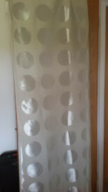 IKEA Curtains, Cream with silky circle pattern