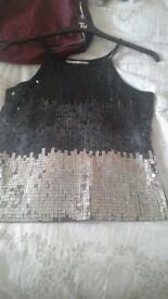 Ladies sequence top size 16