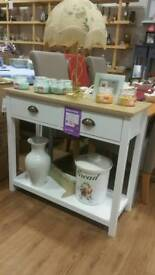 New white console side table