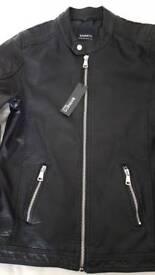 mans leather jacket