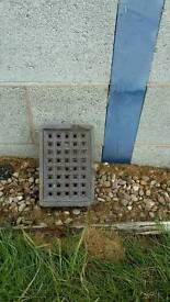 Blue air vent brick