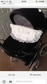Bebecar style classic big bouncy pram immaculate