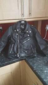 Boys real leather jacket size 28
