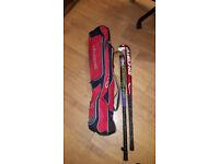 Slazenger Hockey bag with two sticks