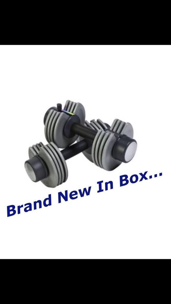 Brand New 2x10 Selectable Dumbbells Weights. •Can Deliver•