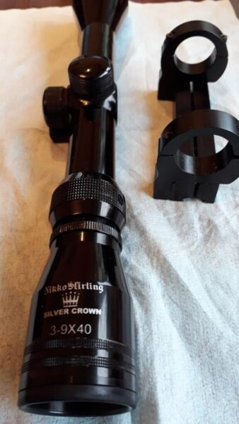 Rifle Scope 3-9x40 Nikko Stirling Silver Crown , used for sale  Bournemouth, Dorset