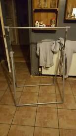 Hardly used hanging rail...